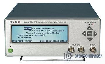 Рубидиевый стандарт частоты с синхронизацией по gps GPS-12RG