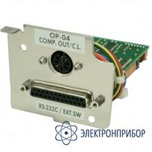 Интерфейс: компаратор с зуммером / rs-232c / токовая петля GX-04