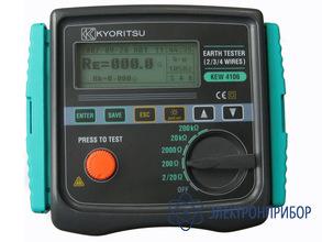 Измеритель сопротивления заземления и удельного сопротивления грунта KEW 4106