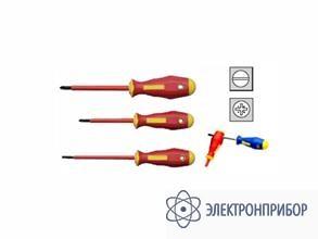 Набор из 3-х отверток, шлицы прямой и pozidriv KL392IS
