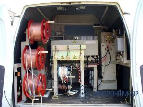 Кабельная лаборатория для работы на кабелях с бумажно-масляной изоляцией ЛК-10+