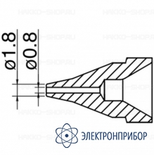 Насадка 0.8 мм типа s N61-04