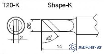 Паяльная сменная композитная головка для станций fx-838 T20-K