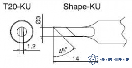 Паяльная сменная композитная головка для станций fx-838 T20-KU
