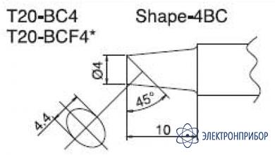 Паяльная сменная композитная головка для станций fx-838 T20-BCF4