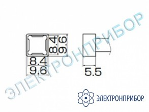 Паяльная сменная композитная головка для станций fx-950/ fx-951/fx-952/fm-203 T12-1209