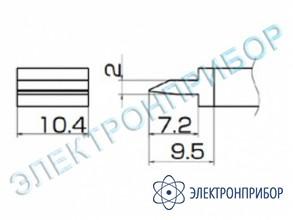 Паяльная сменная композитная головка для станций fx-950/ fx-951/fx-952/fm-203 T12-1401