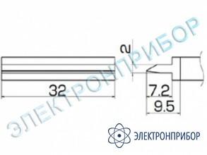 Паяльная сменная композитная головка для станций fx-950/ fx-951/fx-952/fm-203 T12-1405