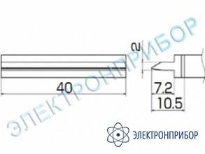 Паяльная сменная композитная головка для станций fx-950/ fx-951/fx-952/fm-203 T12-1406