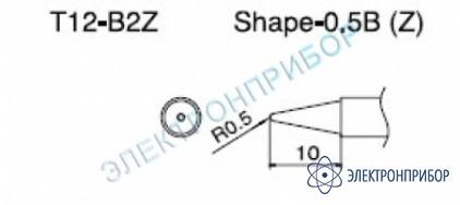 Паяльная сменная композитная головка для станций fx-950/ fx-951/fx-952/fm-203 T12-B2Z