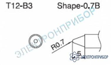 Паяльная сменная композитная головка для станций fx-950/ fx-951/fx-952/fm-203 T12-B3