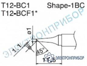Паяльная сменная композитная головка для станций fx-950/ fx-951/fx-952/fm-203 T12-BC1