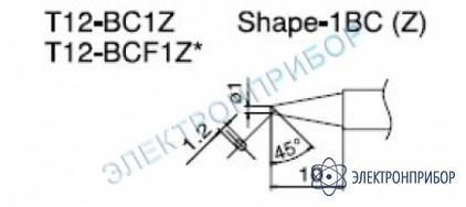 Паяльная сменная композитная головка для станций fx-950/ fx-951/fx-952/fm-203 T12-BC1Z