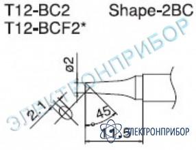 Паяльная сменная композитная головка для станций fx-950/ fx-951/fx-952/fm-203 T12-BC2