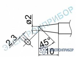 Паяльная сменная композитная головка для станций fx-950/ fx-951/fx-952/fm-203 T12-BC2Z