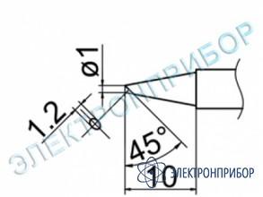 Паяльная сменная композитная головка для станций fx-950/ fx-951/fx-952/fm-203 T12-BCF1Z