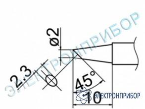 Паяльная сменная композитная головка для станций fx-950/ fx-951/fx-952/fm-203 T12-BCF2Z
