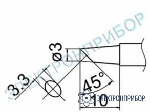 Паяльная сменная композитная головка для станций fx-950/ fx-951/fx-952/fm-203 T12-BCF3Z