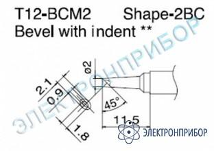 Паяльная сменная композитная головка для станций fx-950/ fx-951/fx-952/fm-203 T12-BCM2