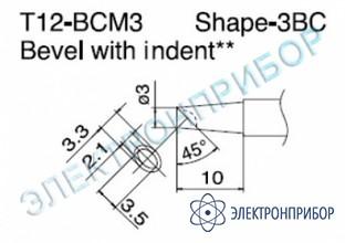 Паяльная сменная композитная головка для станций fx-950/ fx-951/fx-952/fm-203 T12-BCM3