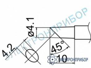 Паяльная сменная композитная головка для станций fx-950/ fx-951/fx-952/fm-203 T12-C4Z