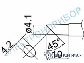 Паяльная сменная композитная головка для станций fx-950/ fx-951/fx-952/fm-203 T12-CF4Z