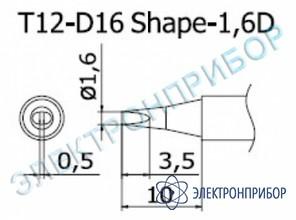 Паяльная сменная композитная головка для станций fx-950/ fx-951/fx-952/fm-203 T12-D16