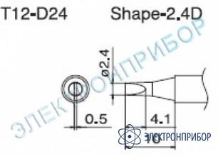 Паяльная сменная композитная головка для станций fx-950/ fx-951/fx-952/fm-203 T12-D24