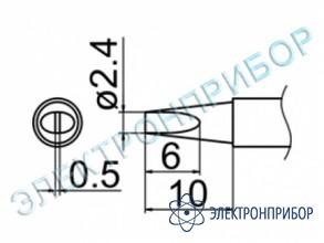 Паяльная сменная композитная головка для станций fx-950/ fx-951/fx-952/fm-203 T12-D24Z