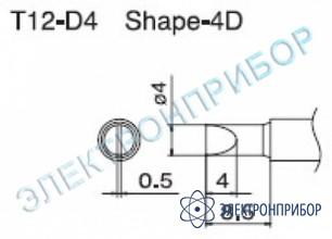 Паяльная сменная композитная головка для станций fx-950/ fx-951/fx-952/fm-203 T12-D4