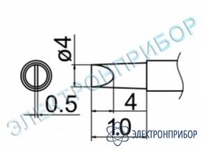Паяльная сменная композитная головка для станций fx-950/ fx-951/fx-952/fm-203 T12-D4Z
