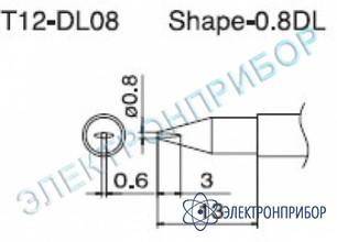 Паяльная сменная композитная головка для станций fx-950/ fx-951/fx-952/fm-203 T12-DL08