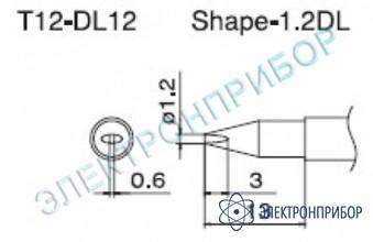 Паяльная сменная композитная головка для станций fx-950/ fx-951/fx-952/fm-203 T12-DL12