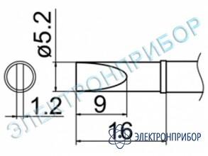 Паяльная сменная композитная головка для станций fx-950/ fx-951/fx-952/fm-203 T12-DL52