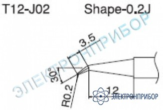 Паяльная сменная композитная головка для станций fx-950/ fx-951/fx-952/fm-203 T12-J02