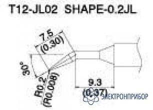 Паяльная сменная композитная головка для станций fx-950/ fx-951/fx-952/fm-203 T12-JL02