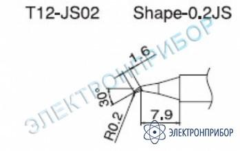 Паяльная сменная композитная головка для станций fx-950/ fx-951/fx-952/fm-203 T12-JS02