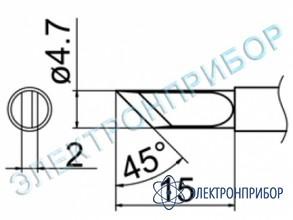 Паяльная сменная композитная головка для станций fx-950/ fx-951/fx-952/fm-203 T12-K