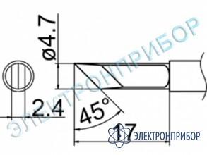 Паяльная сменная композитная головка для станций fx-950/ fx-951/fx-952/fm-203 T12-KF