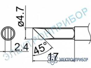 Паяльная сменная композитная головка для станций fx-950/ fx-951/fx-952/fm-203 T12-KFZ