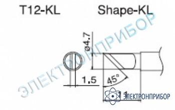 Паяльная сменная композитная головка для станций fx-950/ fx-951/fx-952/fm-203 T12-KL