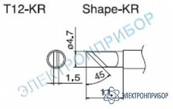 Паяльная сменная композитная головка для станций fx-950/ fx-951/fx-952/fm-203 T12-KR