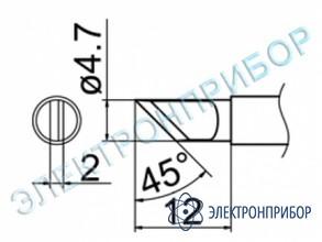 Паяльная сменная композитная головка для станций fx-950/ fx-951/fx-952/fm-203 T12-KRZ