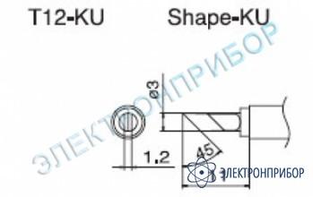 Паяльная сменная композитная головка для станций fx-950/ fx-951/fx-952/fm-203 T12-KU