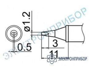 Паяльная сменная композитная головка для станций fx-950/ fx-951/fx-952/fm-203 T12-WD12