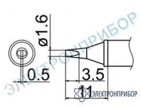 Паяльная сменная композитная головка для станций fx-950/ fx-951/fx-952/fm-203 T12-WD16
