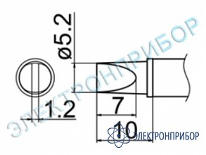 Паяльная сменная композитная головка для станций fx-950/ fx-951/fx-952/fm-203 T12-WD52
