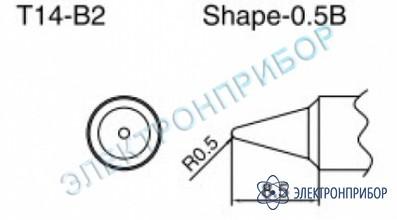 Паяльные сменные композитные головки для паяльника с подачей азота hakko 957, станции hakko 938 T14-B2