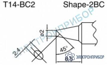 Паяльные сменные композитные головки для паяльника с подачей азота hakko 957, станции hakko 938 T14-BC2