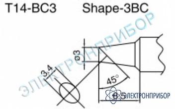 Паяльные сменные композитные головки для паяльника с подачей азота hakko 957, станции hakko 938 T14-BC3